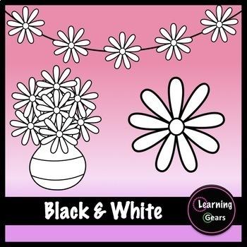 Rainbow flowers clipart black white color glitter by learning rainbow flowers clipart black white color glitter mightylinksfo
