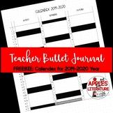 BTS Calendex Teacher Bullet Journal Printable