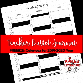 BTS Calendex Teacher Bullet Journal Printable