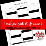Freebie Teacher Bullet Journal Calendex