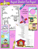 August Fun Pages - Coloring and Activity Download - Distan