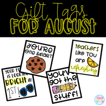 August Gift Tags