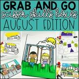 August Grab and Go Scissor Skills Activities