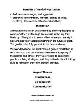 August Guided Meditation Bundle
