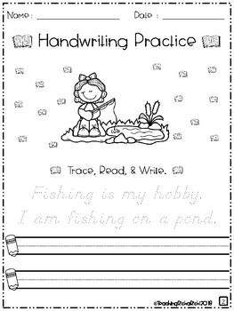 August Handwriting Practice