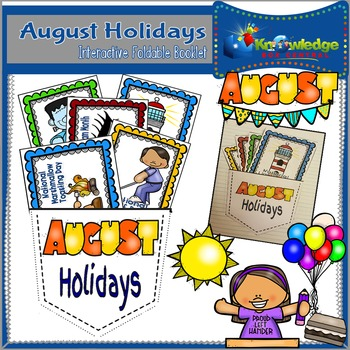 August Holidays Interactive Fodable Booklet