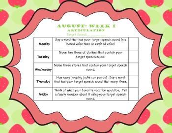 August Home Program (Articulation)