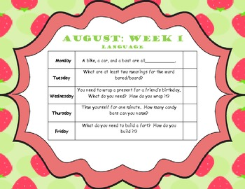 August Home Program (Elementary Language)