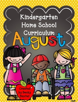August Home School Curriculum for Kindergarten