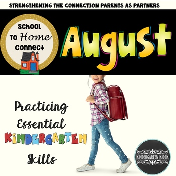 August Homework Packet: Kindergarten
