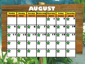 August Interactive Calendar