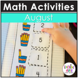 August Interactive Math Notebook Kindergarten