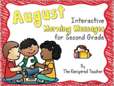 August Interactive Morning Messages for 2nd Grade
