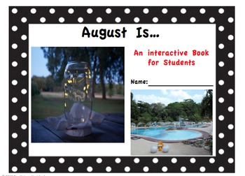 August Is... Interactive Book for Older Students