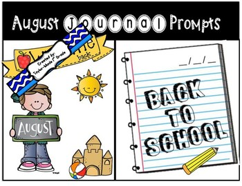 August Journal Prompts - NO PREP & PAPERLESS