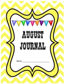 August Journal Prompts Printable Notebook Common Core W.1, W.2, W.3
