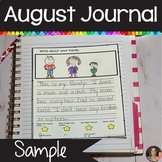 August Journal Sample | Writing Prompts | Freebie