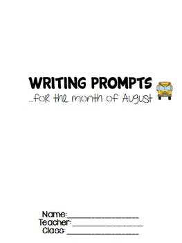 August Journal Writing Prompts