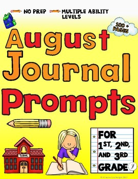 August Journals for Primary Grades