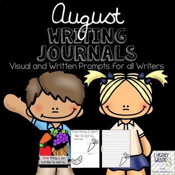 August Journals with Visual and Written Prompts