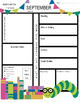 August - June Classroom Newsletter Template: English