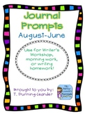 August-June Writing Journal Prompts