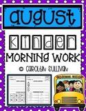 August Kindergarten Literacy Morning Work