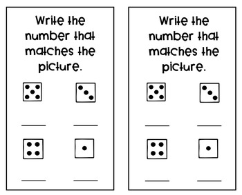 August Kindergarten Math Journal