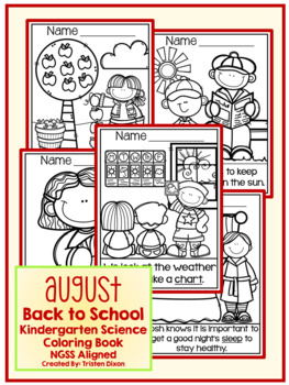 August Kindergarten NGSS Aligned NO PREP Science Coloring Book