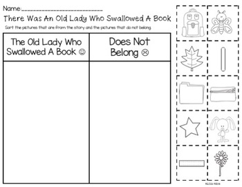 August Sub Plans- There Was An Old Lady Who Swallowed a Book