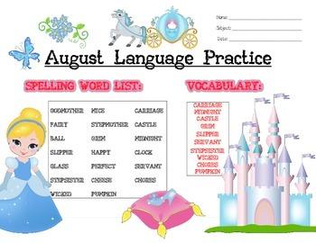 August Language Activities