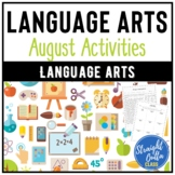 August Language Arts Activities