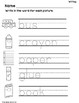 August Language Arts Printables for Special Education