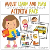 August Learn and Play Toddler Activities