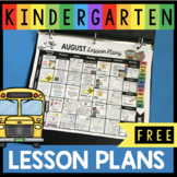 August Lesson Plans - First week of kindergarten activities FREE printables