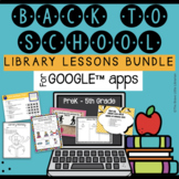 Back to School Library Lessons Bundle PreK-5th