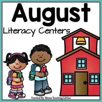 August Literacy Center Bundle
