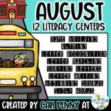 August Literacy Centers: Back to School