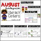 Back to School Kindergarten Literacy Centers {August}