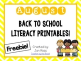 August Literacy Printables {Freebie!}
