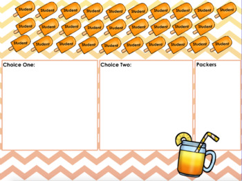 August Lunch Count (Popsicle Theme)