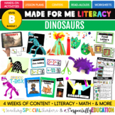 August Made For Me Literacy (Dinosaurs Coming July 15th)