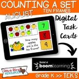August Math Boom Cards | Ten Frames Kindergarten TEKS