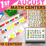 August Math Centers & Activities for 1st Grade