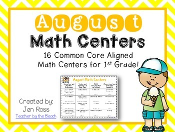 August Math Centers Menu {CCS Aligned} Grade 1