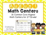 August Math Centers Menu {CCS Aligned} Grade 2