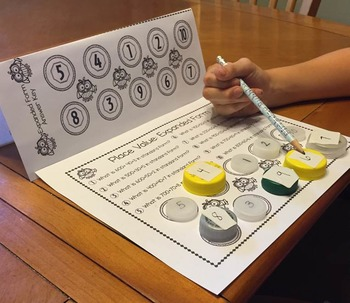 August Math Centers Second Grade: Just Add Bottle Caps