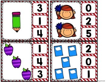 Kindergarten Math Centers for August