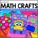 August Math Crafts: Back to School Math Activities