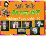 August Math Crafts Addition Facts within 20